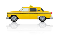 Vintage Yellow New York Taxi Royalty Free Stock Images