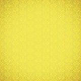 Vintage yellow ornate pattern. Vintage yellow ornate wallpaper pattern Stock Images