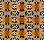 Vintage Yellow Pattern Royalty Free Stock Photography