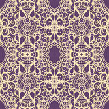 Vintage yellow and purple pattern Stock Photo