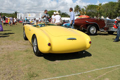 Vintage yellow racing car Stock Photo
