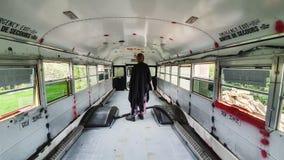 Free Vintage Yellow School Bus Adventure Royalty Free Stock Photography - 208624547
