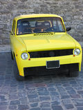Vintage yellow sport car oldtimer Stock Photo
