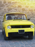 Vintage yellow sports car oldtimer Stock Images