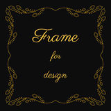 Vintage yellow square frame. The vector object design stock illustration