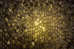 Vintage yellow stained glass Royalty Free Stock Photography