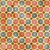 Vintage yellow star seamless pattern Stock Images