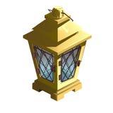 Vintage yellow street lamp. Vector  Stock Photography