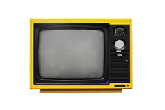 Vintage Yellow TV Royalty Free Stock Photography