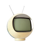 Vintage Yellow TV Stock Image