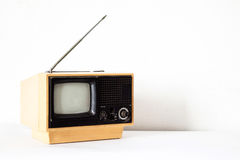 Vintage Yellow TV Stock Images
