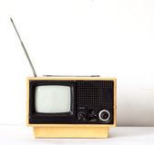 Vintage Yellow TV Royalty Free Stock Images
