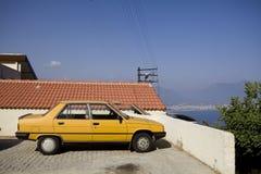 Vintage yellow vehicle Stock Photos
