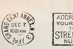 Vintage yellowed envelope Royalty Free Stock Photo