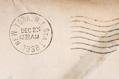 Vintage yellowed envelope Stock Photos