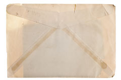 Vintage yellowed envelope Royalty Free Stock Photo