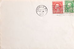 Vintage yellowed envelope Royalty Free Stock Images