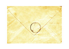 Vintage yellowed envelope Stock Photos