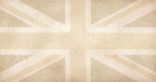 Vintage yellowed grunge flag with scratches UK Stock Photo