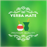 Vintage yerba mate label Stock Photography
