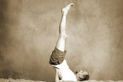 Vintage yoga Stock Photo