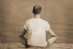 Vintage yoga Royalty Free Stock Photo