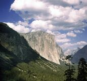 Vintage Yosemite Valley In California Stock Image