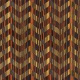 Vintage zig zag pattern - seamless background - Ebony wood Stock Photography