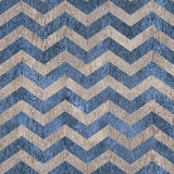 Vintage zig zag pattern - seamless background - wooden surface Royalty Free Stock Image