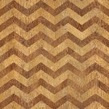 Vintage zig zag pattern - seamless background - wooden surface Royalty Free Stock Images