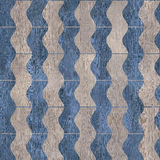 Vintage zig zag pattern - seamless background - wooden texture Royalty Free Stock Image
