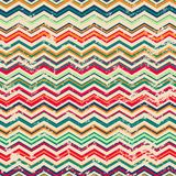 Vintage zigzag seamless pattern with grunge effect Royalty Free Stock Photos