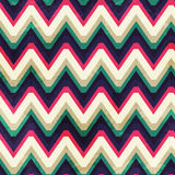 Vintage zigzag seamless pattern with grunge effect Stock Photo