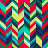Vintage zigzag seamless pattern with grunge effect Royalty Free Stock Images