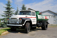 Vintage Zil 130 Tank Truck on a Yard Royalty Free Stock Image