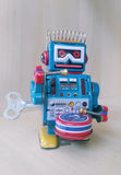 Vintage  zinc robot toy Royalty Free Stock Photos