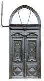 Vintageblack drzwi i elektryczni kable Obrazy Stock