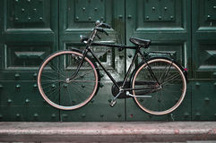 Vintaged bicycle suspended stock photography
