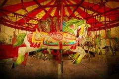 Vintaged Carousel Royalty Free Stock Photo