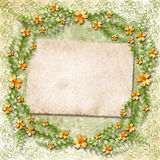 Vintageframework for invitation or congratulation Stock Photo