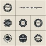 Vintages Auto Logo Badges Set royalty free illustration