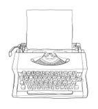 VintageTypewriters en document lijnart. Stock Foto's