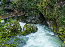Vintar gorge near Bled Royalty Free Stock Photos