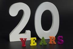 Vinte anos Imagens de Stock