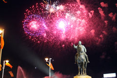 Vinte anos da independência de Macedónia Foto de Stock