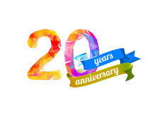 20 vinte anos de aniversário Fotografia de Stock Royalty Free
