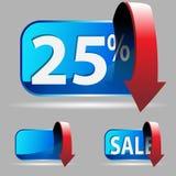 Vinte cinco por cento Fotografia de Stock Royalty Free