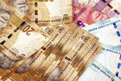 Vinte cinqüênta e cem Rand South African Bank Notes Imagens de Stock Royalty Free