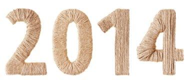 Vinte-décimo quarto ano novo dos dígitos do tecido fotografia de stock