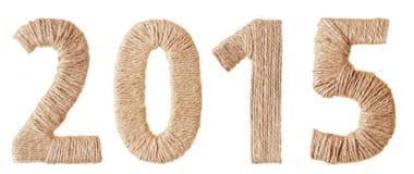 Vinte-décimo quinto ano novo dos dígitos do tecido Imagens de Stock